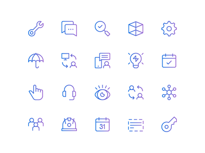 Custom Iconography brand identity branding linework icon set 829 creative design dan fleming