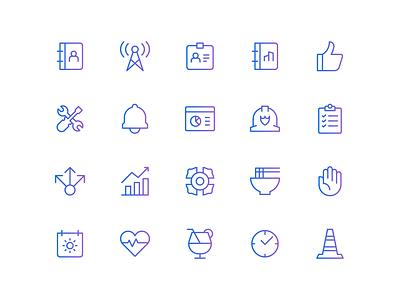Custom Iconography brand identity branding linework icon set 829 creative design dan fleming
