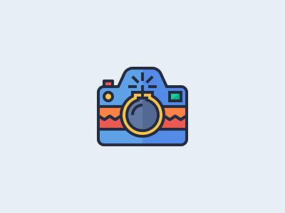 Photo Bomb! design creative dan fleming logo camera photo bomb fun linework illustration icon design brand identity