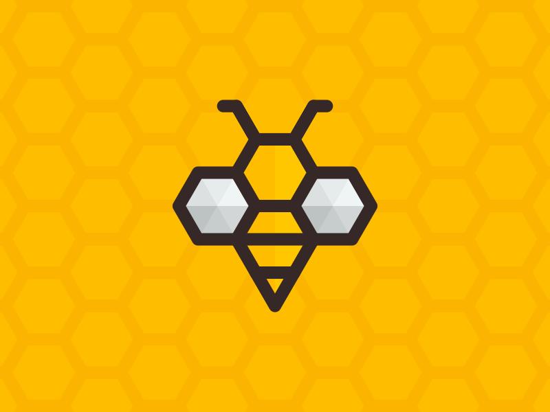 Honey Bee dan fleming creative design honey bee logo illustration brand identity