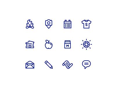 Summer Camp Icons 829 dan fleming creative design icon set summer camp fire