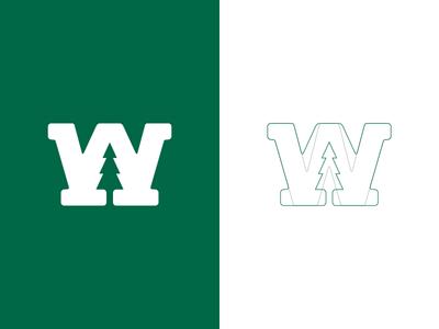 Waukeela Logomark 829 dan fleming creative design summer camp logomark w pine tree