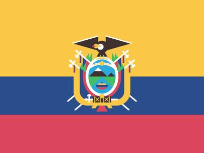 Flag of Ecuador ecuador geometric flag design creative 829 dan fleming