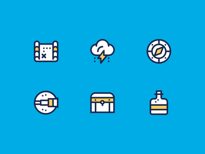 Treasure Hunt Icons treasure hunt design creative pixel perfect icon set df