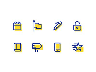 Fun Little Icons energetic cute iconography creative design dan fleming
