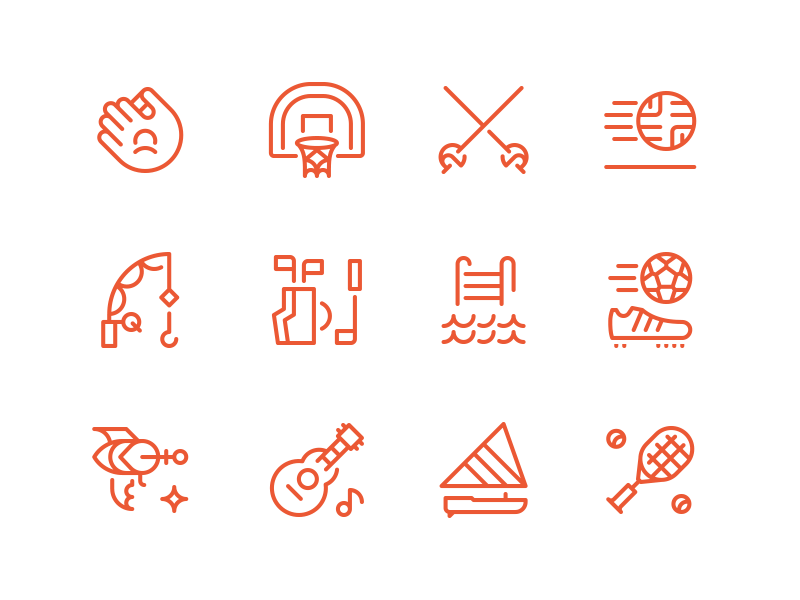 Summer Camp Icons By Dan Fleming Dribbble Dribbble