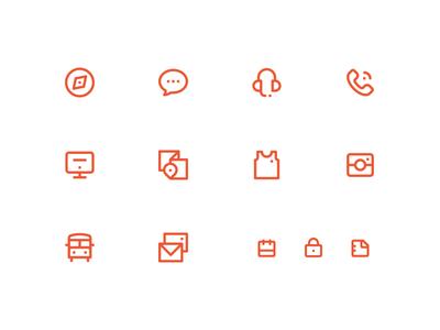 Summer Camp UI Icons summer camp icons set creative design dan fleming