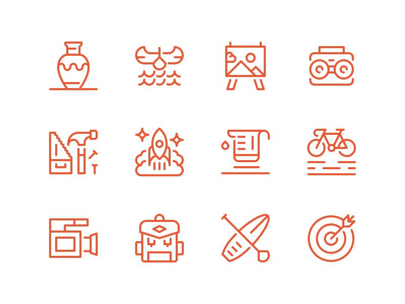 Summer Camp Icons III activities creative dan fleming design icons set summer camp