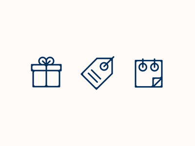 Owl's Nest Icons events specials packages icon set linework creative design dan fleming