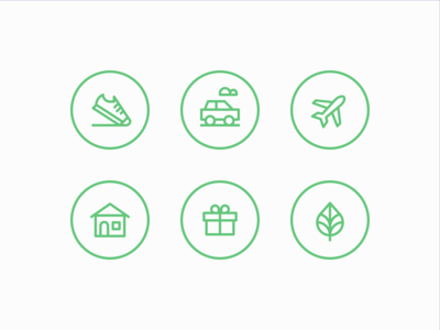Carbon Offset icons
