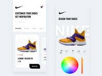 Nike shoes UI
