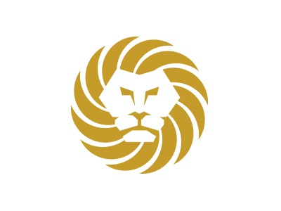 Lion logo mark lion icon branding head sun animal