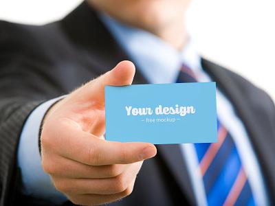Business Card Free Mockup psd hand photoshop download free freebie layers mockup template business card branding man