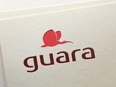 Guara  logotype wing ibis guara flight figure bird red design branding mark logo