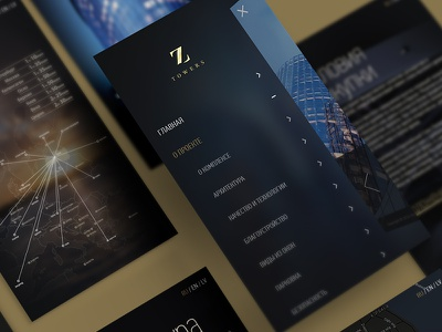 Z-Towers mobile app design interaction application ios user experience user interface app design menu interface ux ui iphone