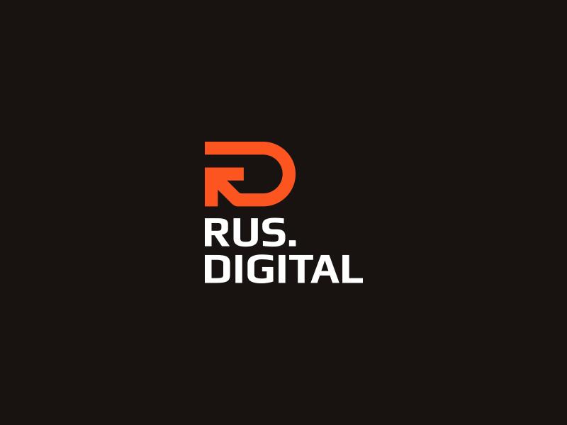 Rus.Digital r d logo mark rd arrow brand russia digital spread media