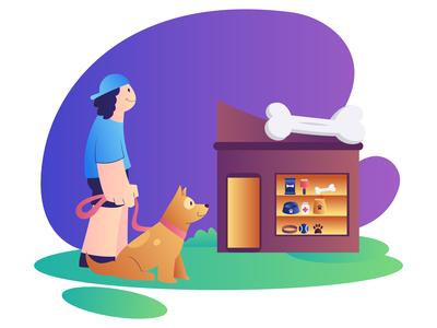 Pet Shop - Dog Care Illustrations