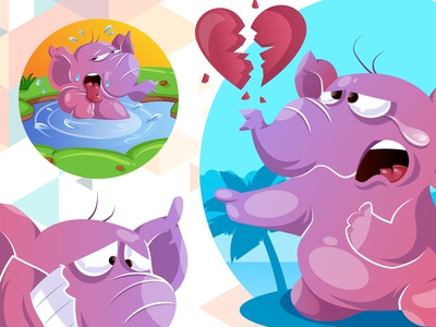 Cute Elephant Illustrations