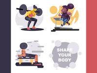 Gymnastic Illustrations - Shape Your Body