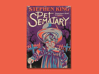 Stephen King, Pet Sematary Poster gage horrormovie drawing illustrator vector poster stephen king pet sematary