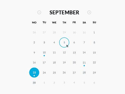 Round Calendar (.psd, HTML & CSS) html css calendar round psd download codepen cssdeck widget free