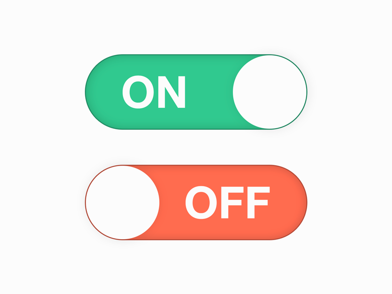 daily ui 015 on off switch by marco biedermann dribbble
