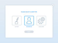 Daily UI | #064 | Select User Type
