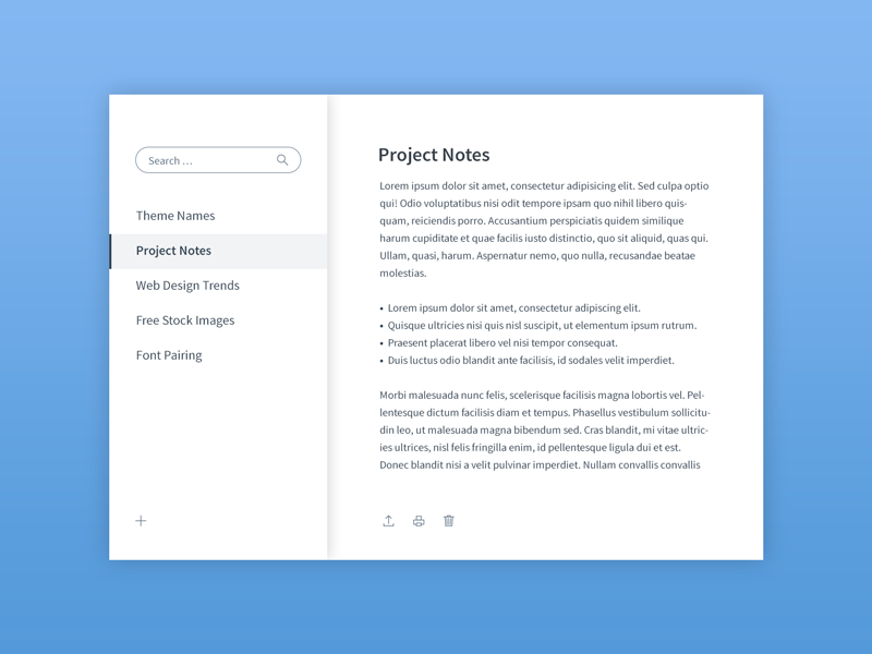 Daily UI   #065   Notes Widget by Marco Biedermann on Dribbble