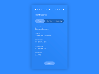 Daily UI | #068 | Flight Search app mobile iphone search flight design web ux ui daily ui