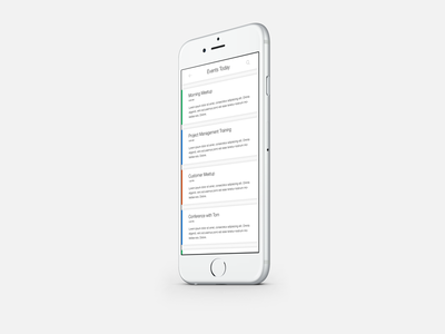 Daily UI | #070 | Event Listing iphone listing app mobile event design web ux ui daily ui