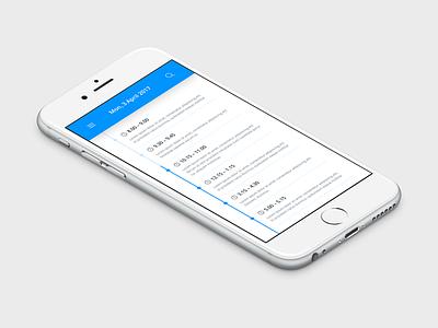 Daily UI | #071 | Schedule daily ui ui ux web event design timeline schedule iphone mobile app