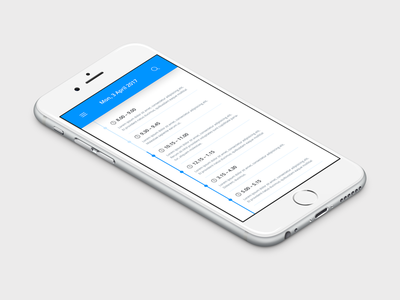 Daily UI | #071 | Schedule daily ui ui ux web event design timeline schedule iphone mobile app