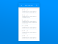 Daily UI | #071 | Schedule