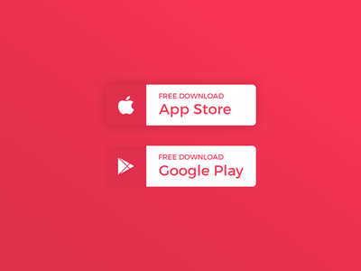 Daily UI | #074 | Download App button android ios google apple mobile app download web ux ui daily ui