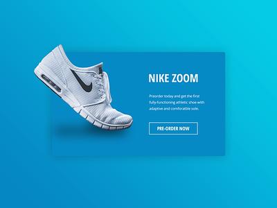 Daily UI | #075 | Pre-Order ecommerce shop nike shoe product order pre-order daily ui ui ux web