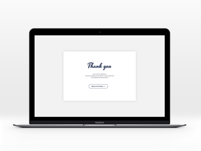 Daily UI | #077 | Thank you daily ui ui ux web message register sign up welcone thank you