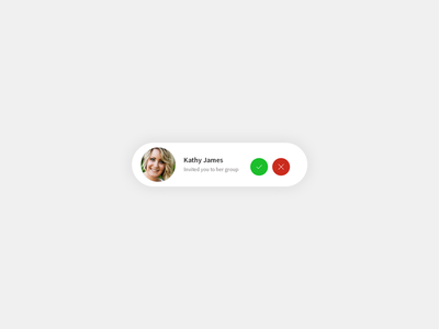 Daily UI | #078 | Pending Invitation message notification invitation web ux ui daily ui