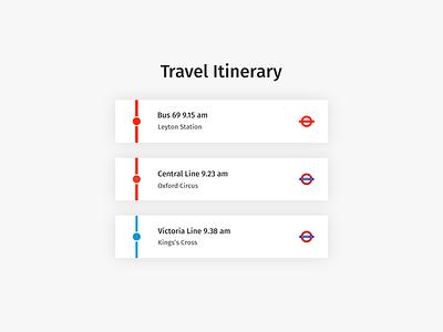 Daily UI | #079 | Itinerary london itinerary travel daily ui ui ux web
