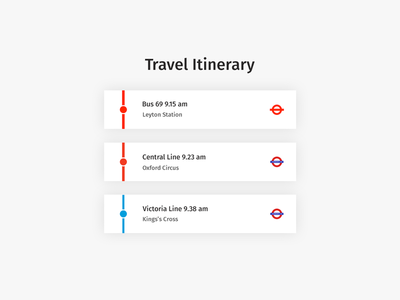 Daily UI | #079 | Itinerary london itinerary travel daily ui ui ux web