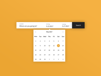 Daily UI | #080 | Date Picker calendar travel booking datepicker picker date web ux ui daily ui