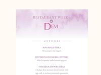 Restaurant Week Mailer
