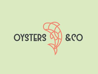 Oysters & Co Logo icon vector design logo
