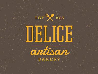 Delice Artisan Bakery Logo classic vintage identity flat lettering icon vector type typography branding logo design