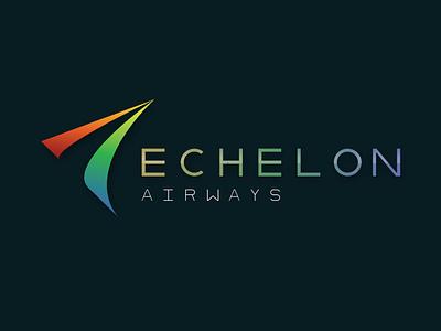 Echelon Airways Logo clean modern design font design font color gradient branding logo vector icon type geometric airline
