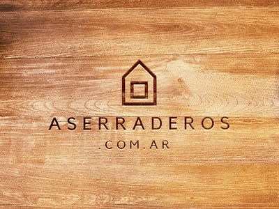 Sawmill Wooden Logo branding design wood logo