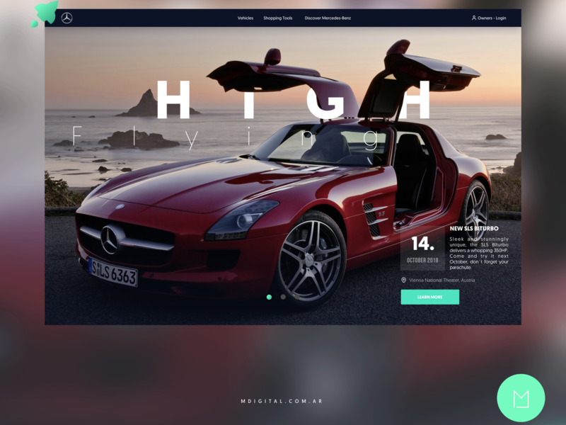 Website Concept Redesign for Mercedes Benz webdeveloper ui  ux design web design agency web design website mercedes benz