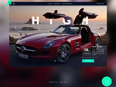 Website Concept Redesign for Mercedes Benz webdeveloper ui  ux design web design agency web design website mercedes benz