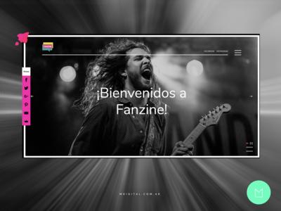 Webdesign for Entertainment Blog