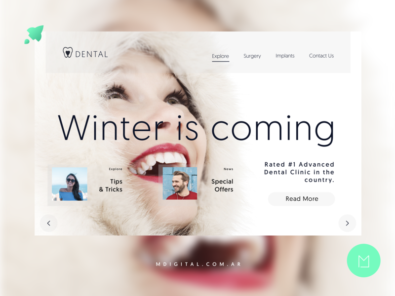 Web Design for Dental Clinic ui  ux design design webdesigner web design dentalcare dentalclinic dental webdeveloper webdesign web