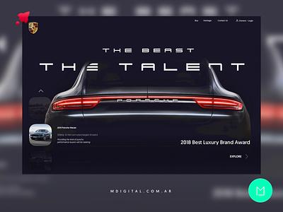 Porsche Web Redesign porsche car club cardealer car ui webdeveloper webdesign design web design agency webdevelopment webdesigner web design web